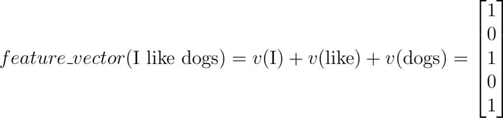 Bag-of-Words-Feedback-Vector-Example